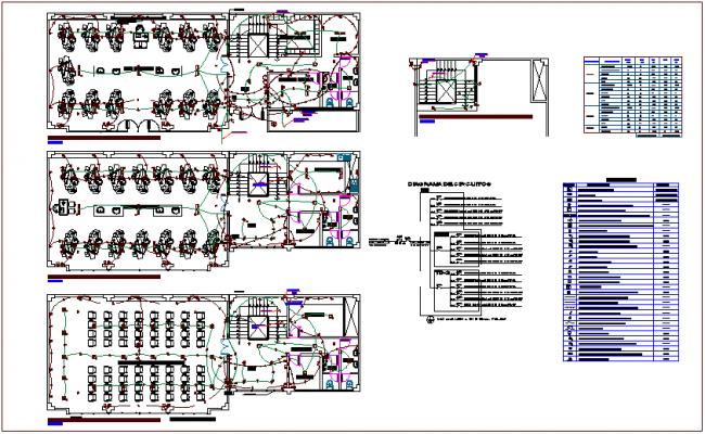 Electrical installation floor plan of dental clinic dwg file