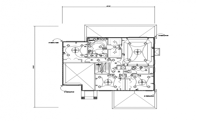 Electrical installation of a building plan dwg file