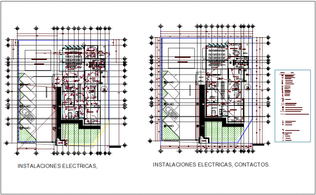 Electrical installation plan of clinic for rural area dwg file