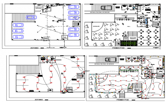 Download Free Cafe Plan AutoCAD Drawings