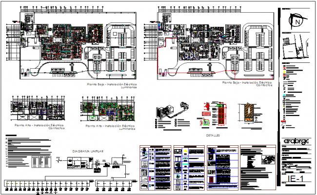 Electrical installation plan of hospital dwg file