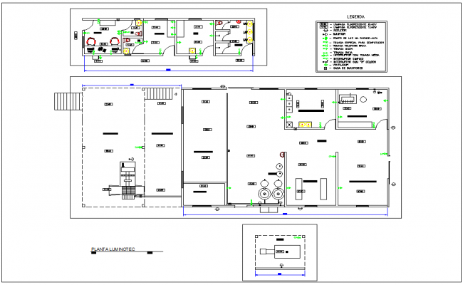 Electrical installation plan of industrial area dwg file