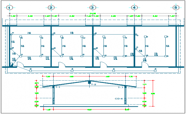 Electrical installation plan of school dwg file