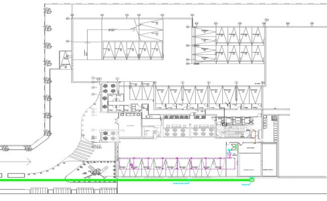 Electrical installation view of building dwg file
