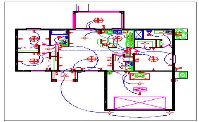 Electrical layout design drawing of House design drawing