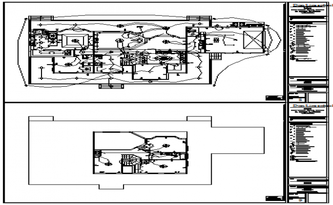 Electrical layout of bungalow design drawing