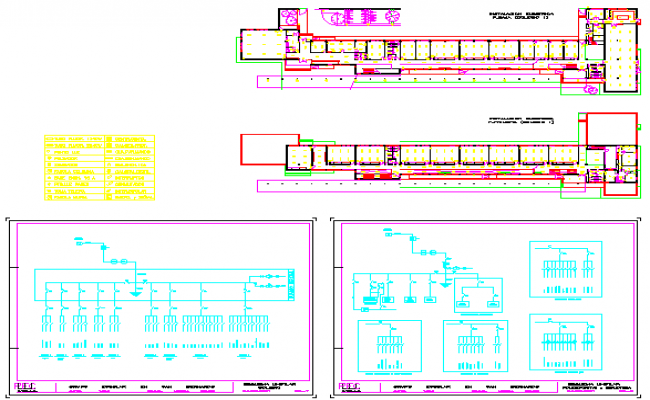 Electrical layout of primary school design study on former rail road property
