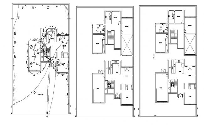 Electrical layout of residential bunglow in dwg file