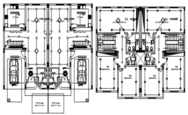 Electrical layout of the house in dwg file