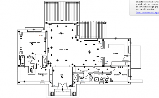 Electrical layout of the residentail house in dwg file