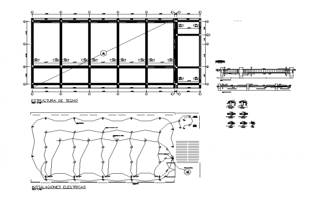 Electrical layout plan and construction plan
