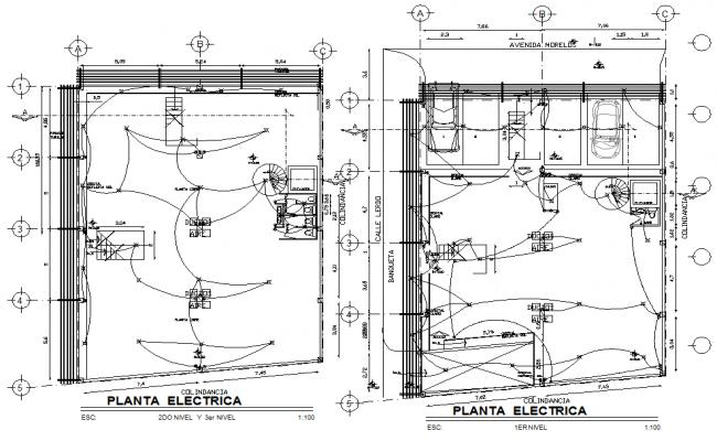 Electrical layout plan dwg file