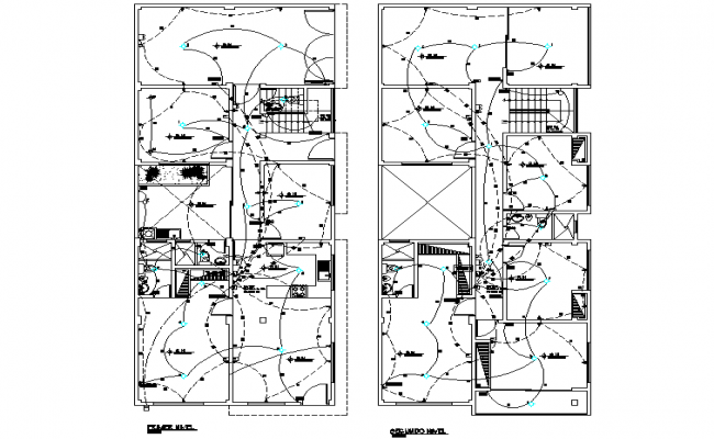 Electrical layout plan of a apartment dwg file
