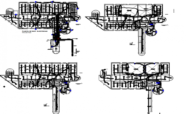 Electrical layout plan of a school dwg file