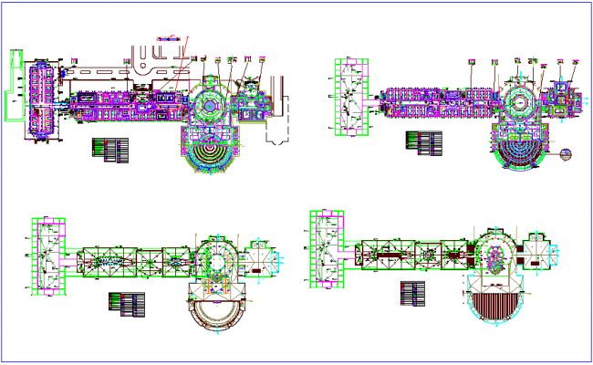 Electrical lighting view with legend of Government building dwg file