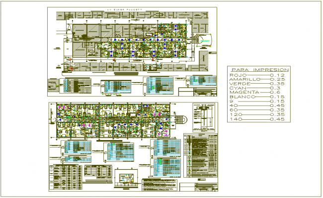 Electrical line view with its legend for hospital design view dwg file