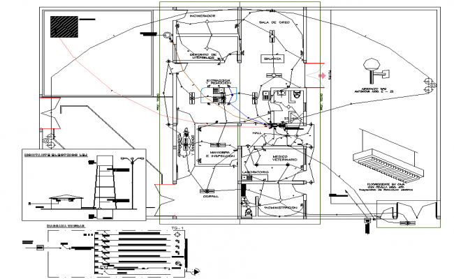 Electrical municipality halter plan detail dwg file
