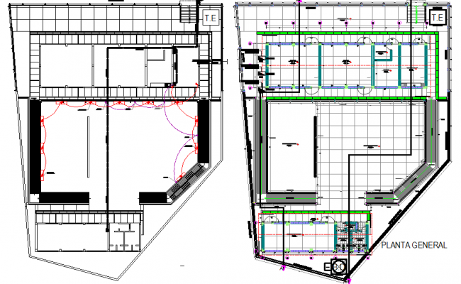 Electrical plan and flooring plan detail dwg file