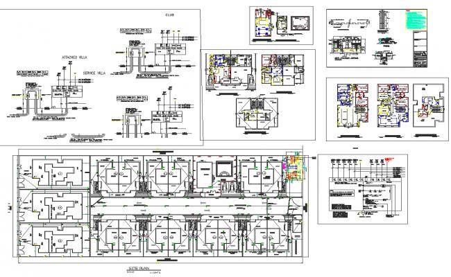 Electrical plan and layout plan detail dwg file
