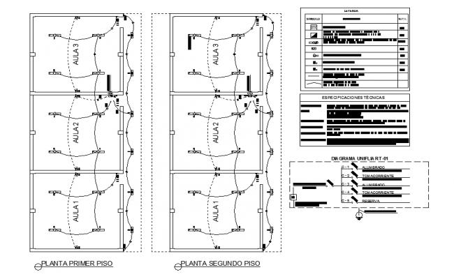 Electrical plan detail dwg file