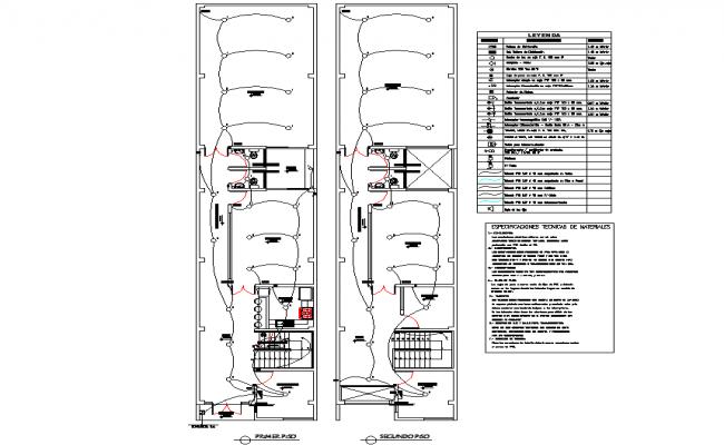 Electrical plan house detail dwg file
