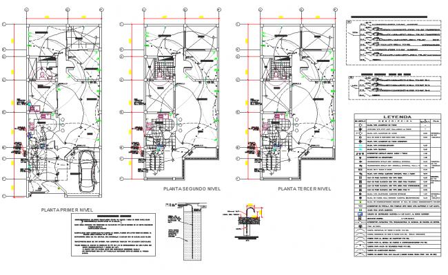 Electrical plan layout detail dwg file