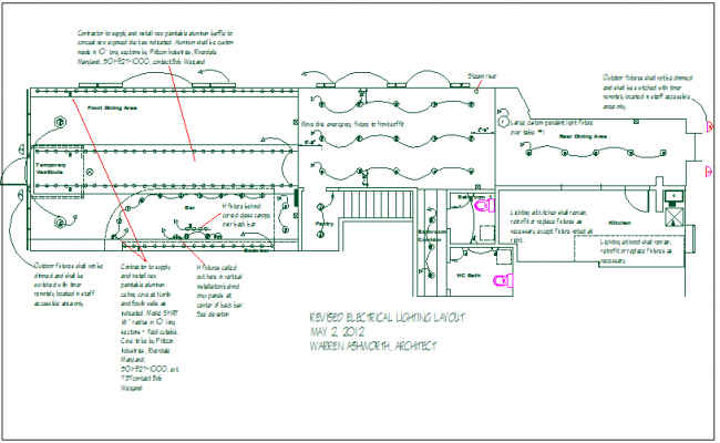 Electrical plan layout detail view dwg file