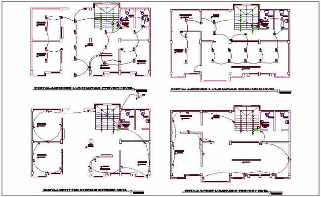 Electrical plan layout view detail dwg file
