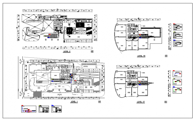 Electrical plan of transmission routing dwg file