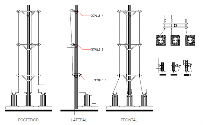 Electrical substation layout & Elevation drawings