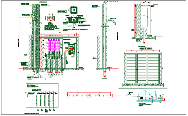 Electrical unit and system plan view detail dwg file