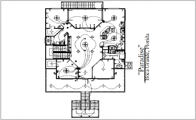 Electrical view of plan of house dwg file