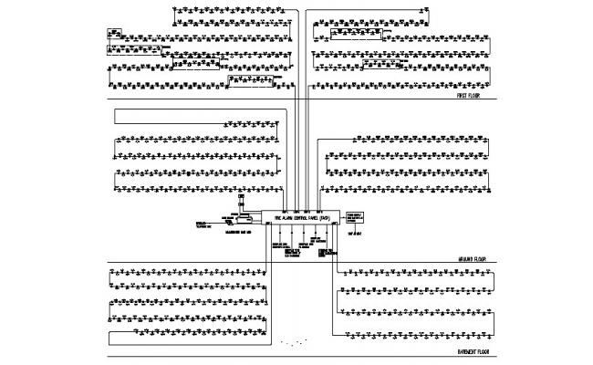 Electrical wire and electrical diagram details dwg file