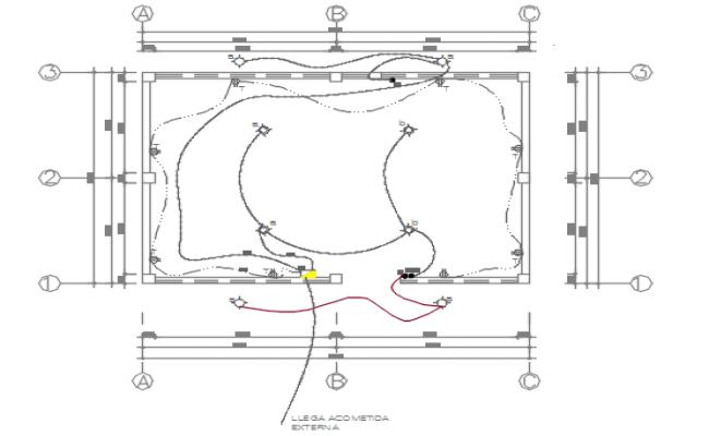 Electrical working plan detail dwg file