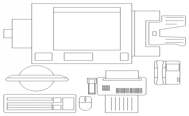 Electronic appliances used in an Office.