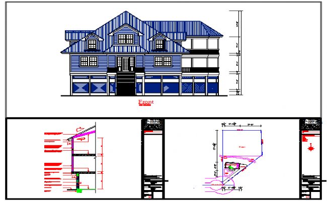 Elevation & Section Detail in cad file