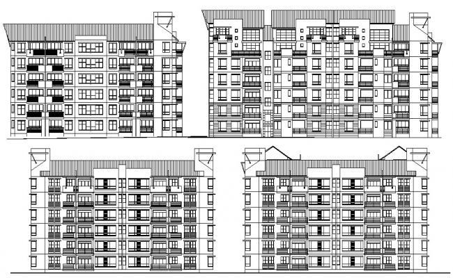 Elevation Apartments AutoCAD File