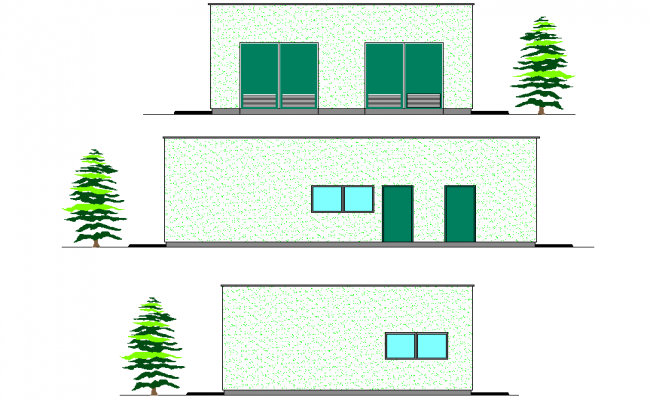 Elevation Building transformation plan detail