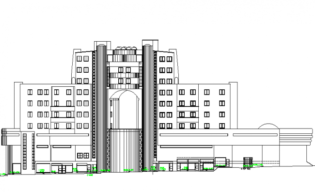 Elevation Design of Hotel Project