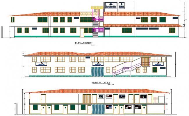 Elevation Design of School Project detail