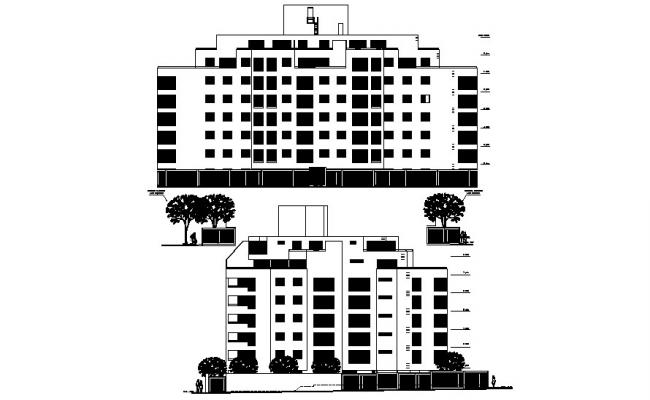 Residential Building In AutoCAD File