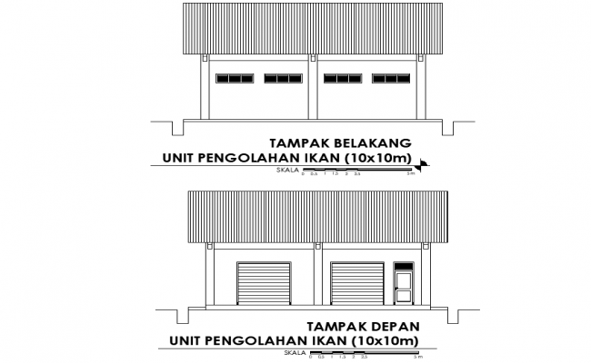 Elevation Fish processing unit plan detail