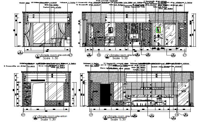 Elevation Floor room details of the house plan detail dwg file