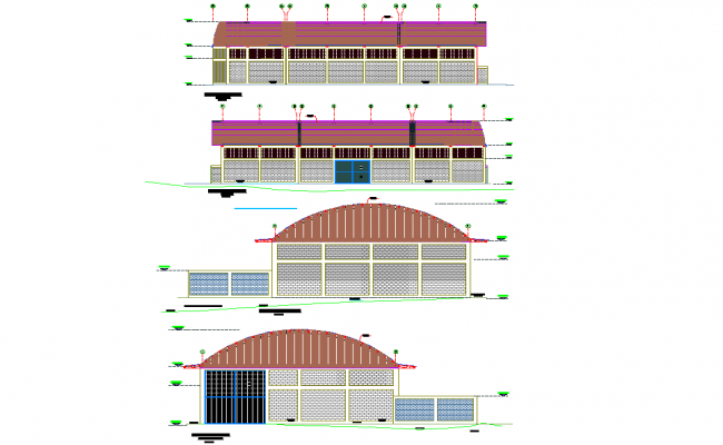 Elevation Project plans construction angara plan dwg file