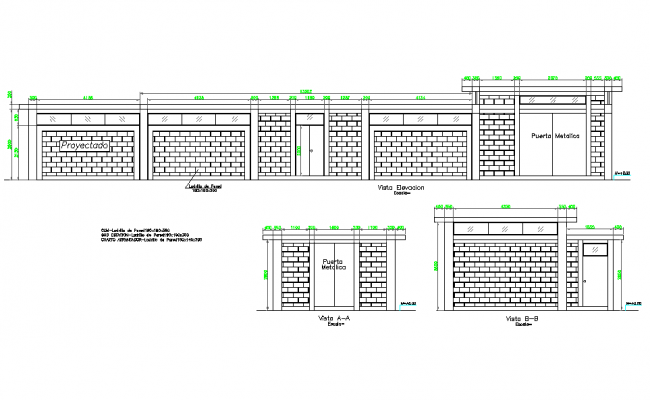 Elevation Substation and machine room plan detail