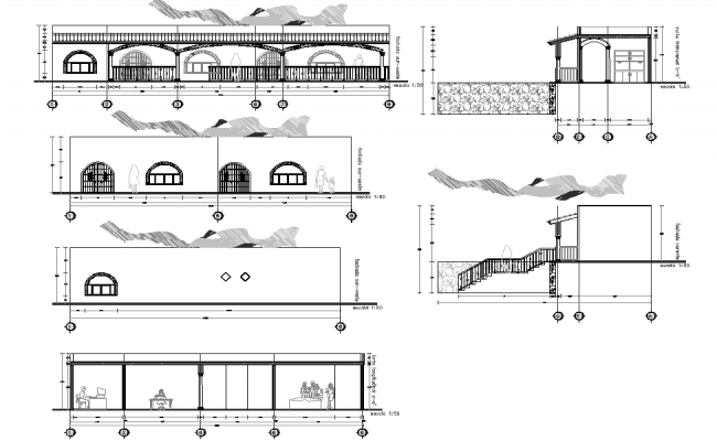 Elevation and section inspection detail