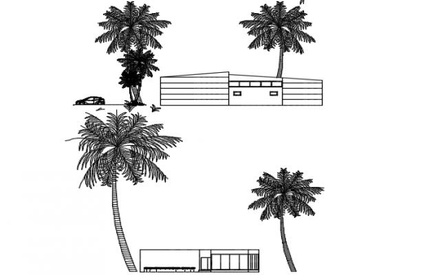 Elevation building plan detail dwg file