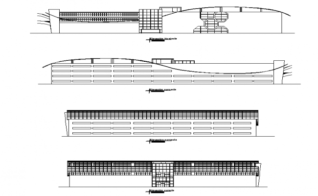 Elevation commercial tower plan dwg file