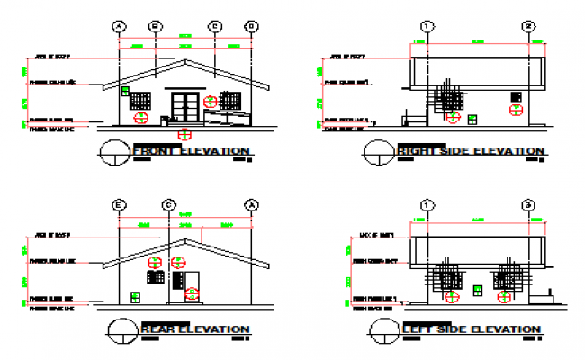 Elevation design drawing of Small hospital design