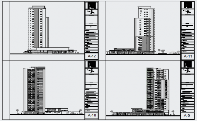 Elevation design of high rise residential building design for High elevation deck plans